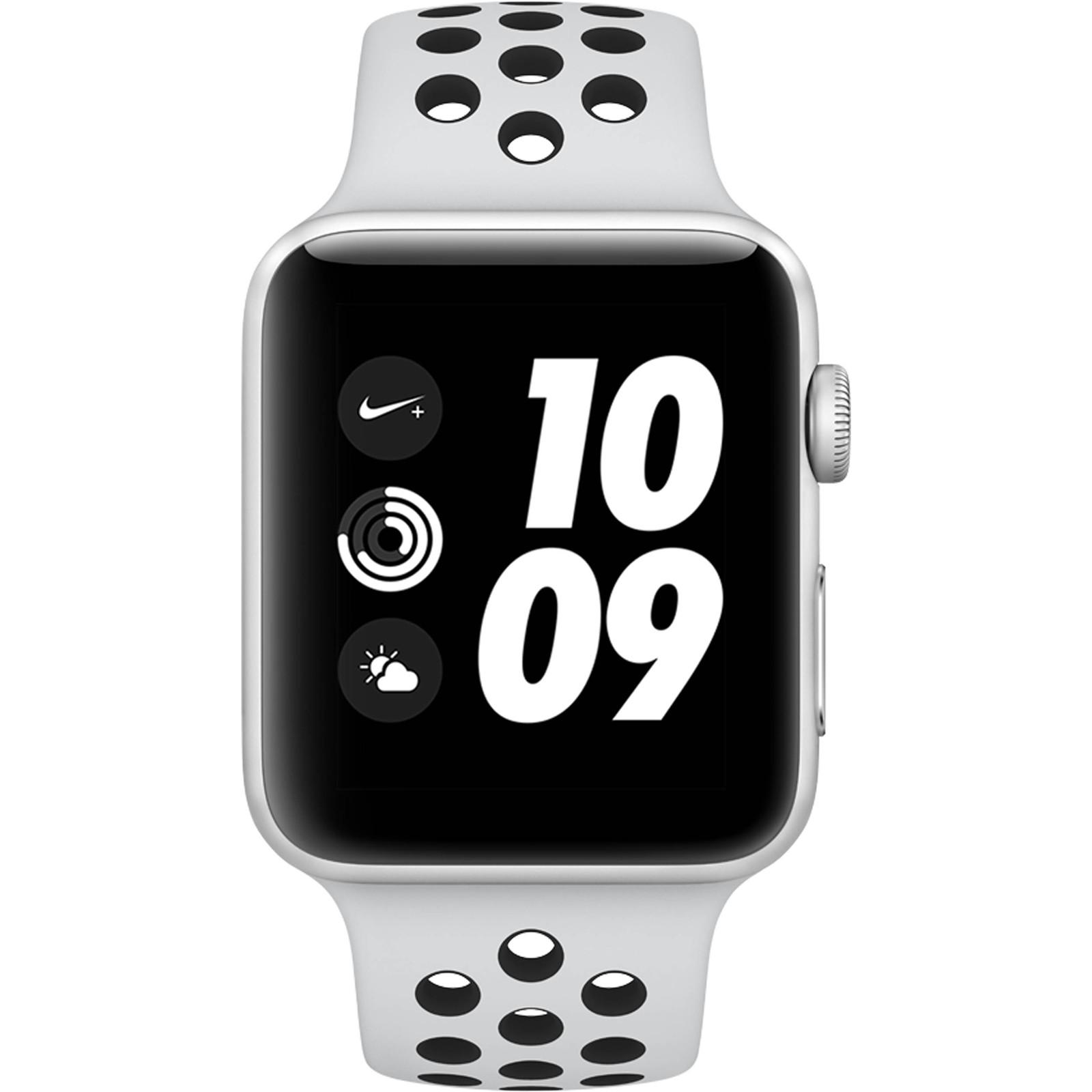 2c3c38ce31dc Apple Watch Series 3 Nike+ GPS 42mm Silver Aluminium Case with Pure  Platinum Black Nike Sport Band