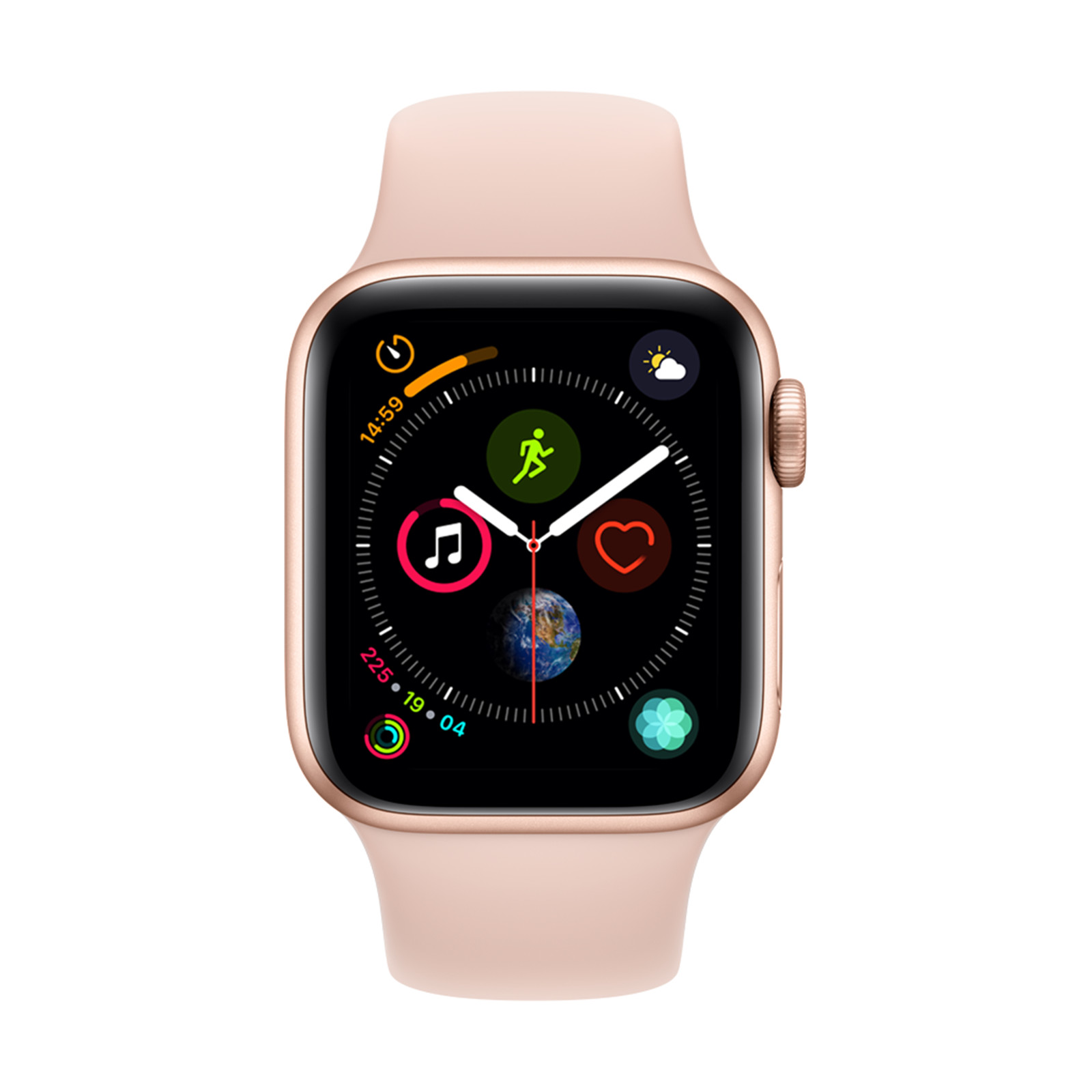 59eae7d7461d4 Apple Watch Series 4 GPS 40mm Gold Aluminium Case with Pink Sand Sport Band