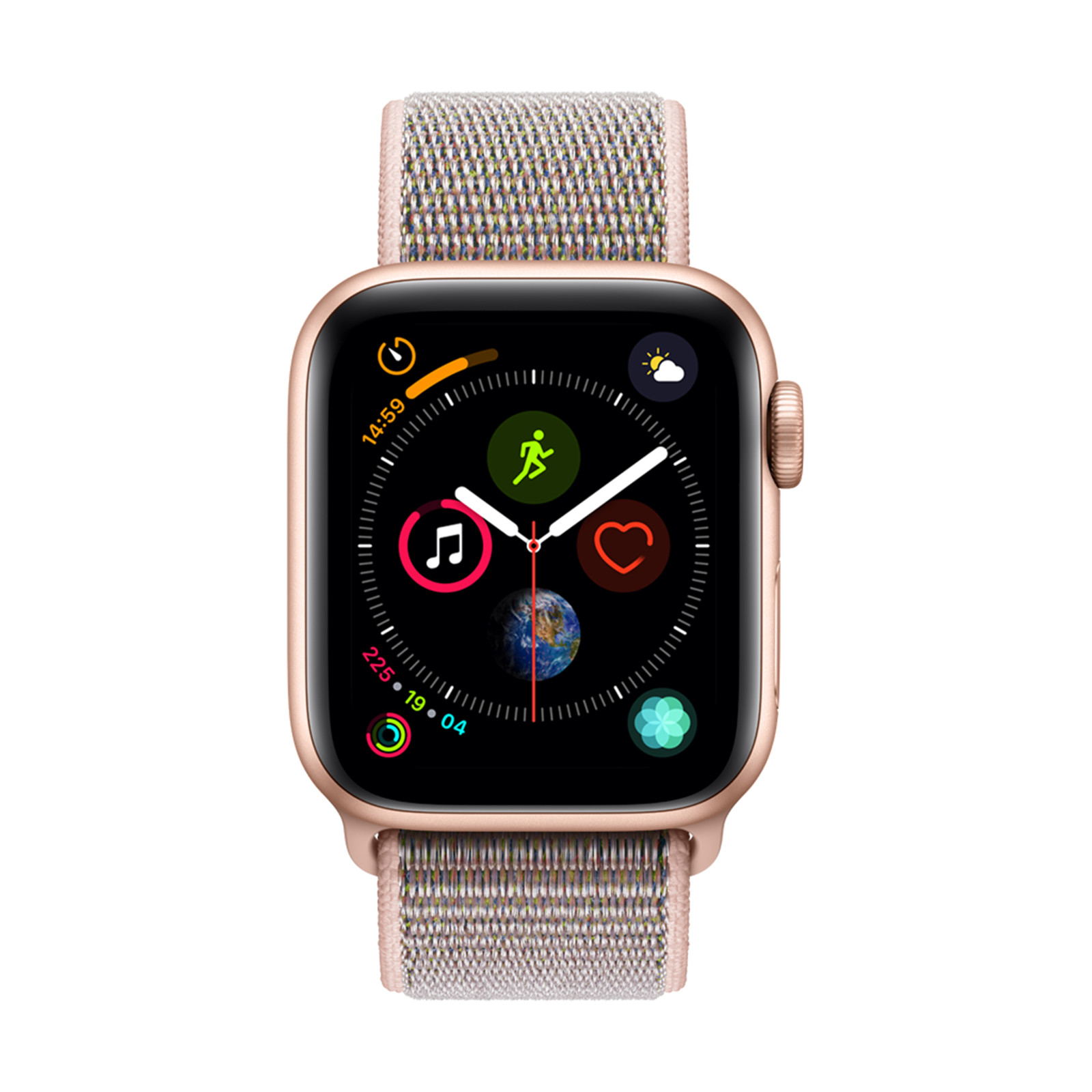 a07e24f2798c97 Apple Watch Series 4 GPS 40mm Gold Aluminium Case with Pink Sand Sport Loop
