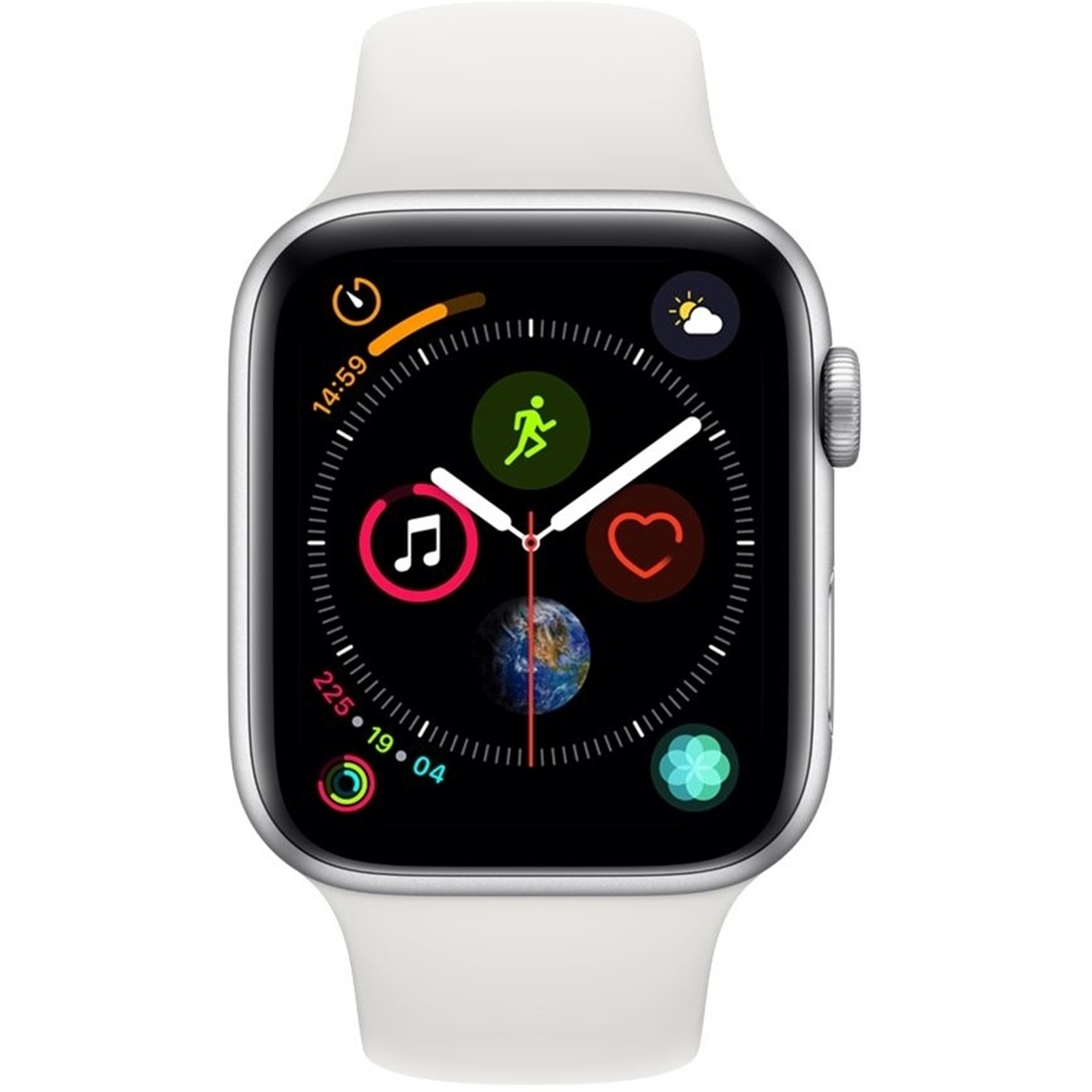 Buy The Apple Watch Series 4 Gps 44mm Silver Aluminium Case With Aluminum Based Printed Circuit Boards For Led Lighting Samsung White Sport Band