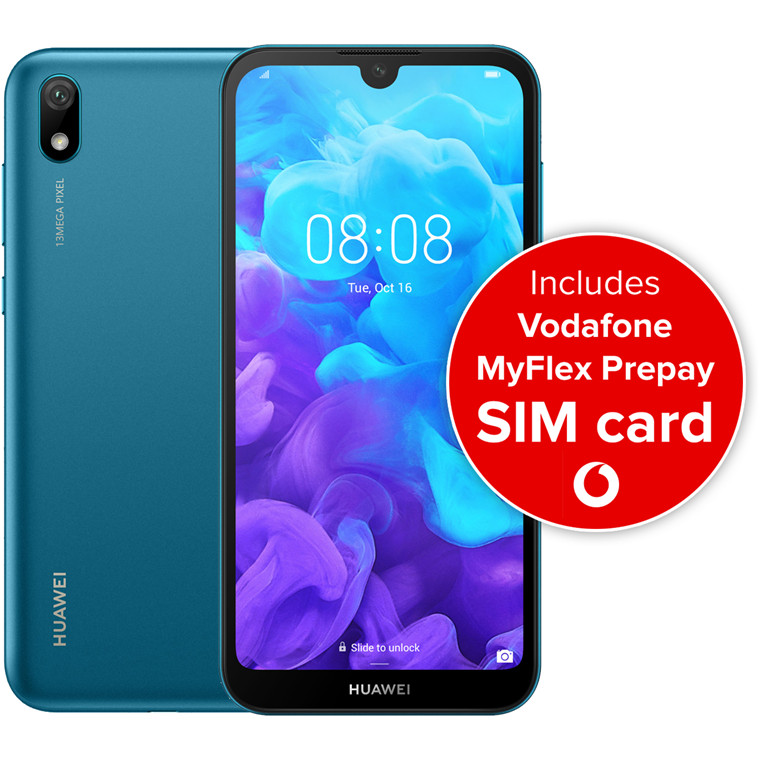 Buy the Huawei Y5 2019 Smartphone 32GB - Sapphire Blue