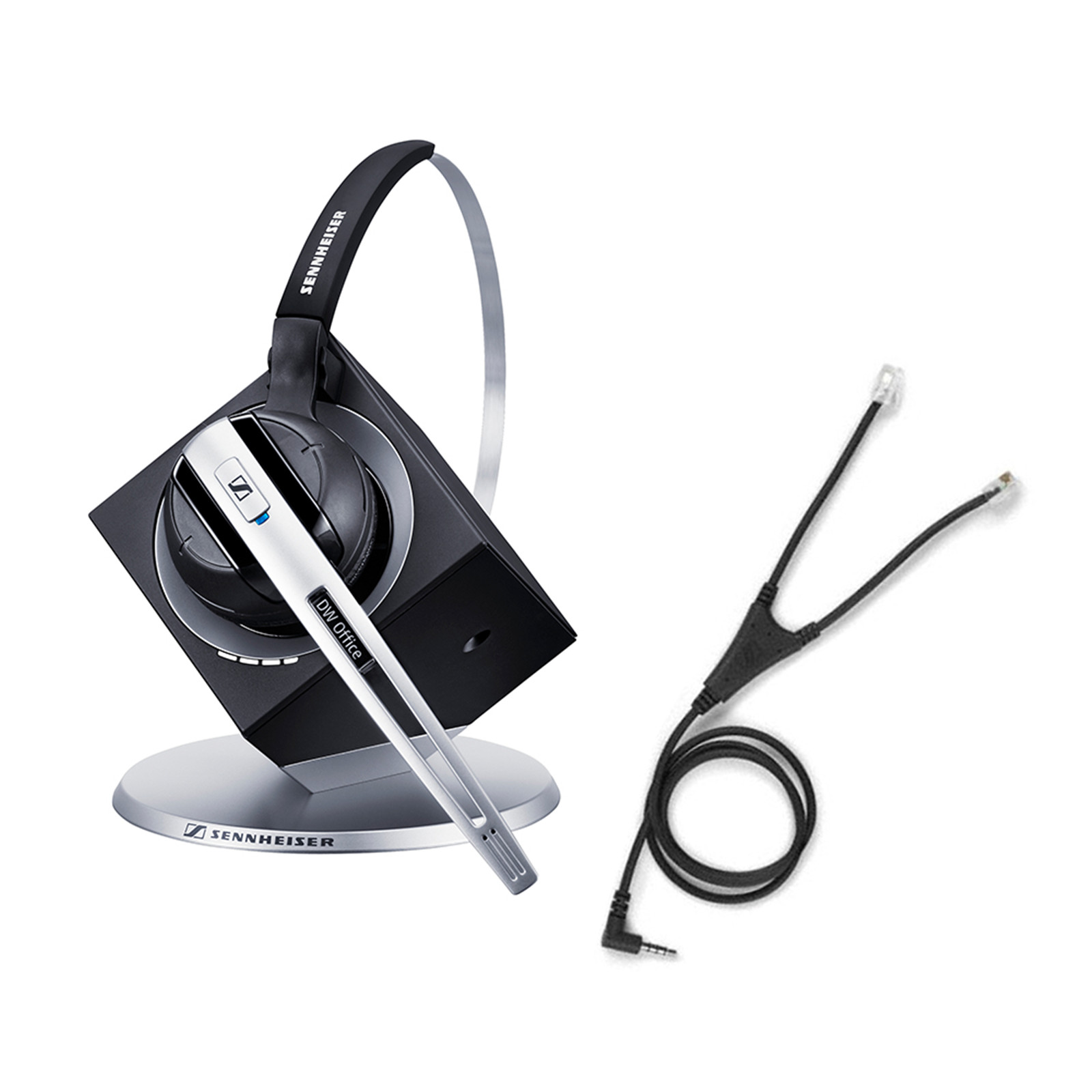 c24d366167a Sennheiser DW Office Wireless DECT Office Headset with Base Station & Audio  Cable - for Mobile Phone