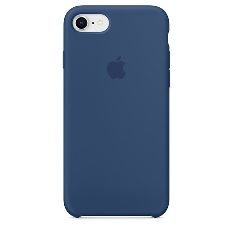 best website f5d22 8eab1 Buy the Apple iPhone 8/7 Silicone Case Blue Cobalt ( MQGN2FE/A ...
