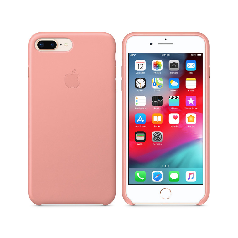 detailed look f1a4f 03620 Buy the Apple iPhone 8 Plus/7 Plus Leather Case - SOFT PINK ...