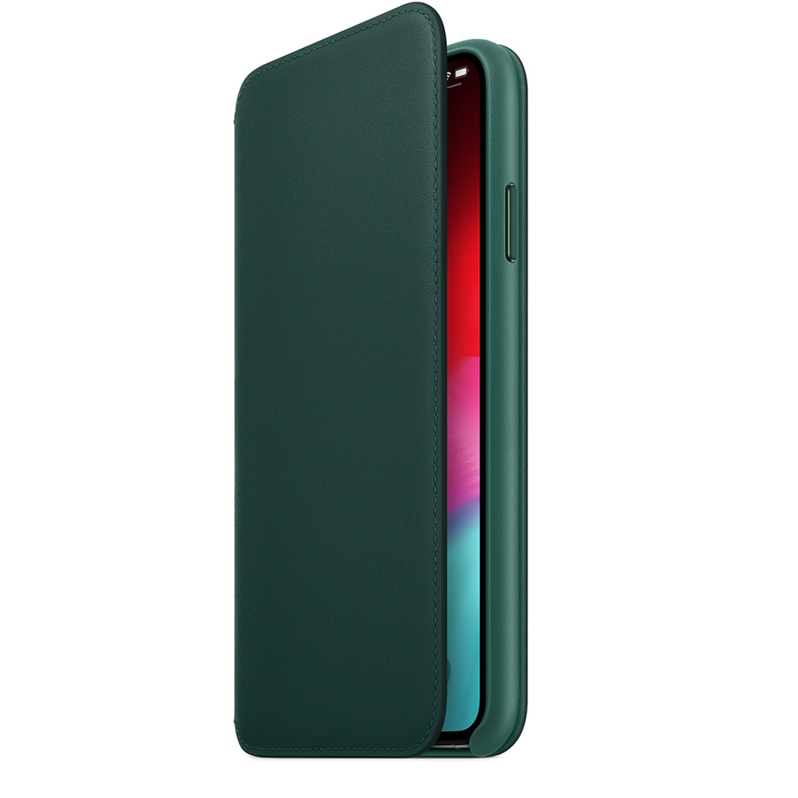 the latest 7d53a f080f Buy the Apple iPhone XS Max Leather Folio - Forest Green, Tanned and ...