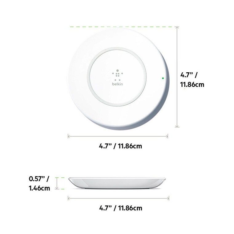 Buy the Belkin BOOSTUP 7 5W Wireless Charging Pad, White,Up