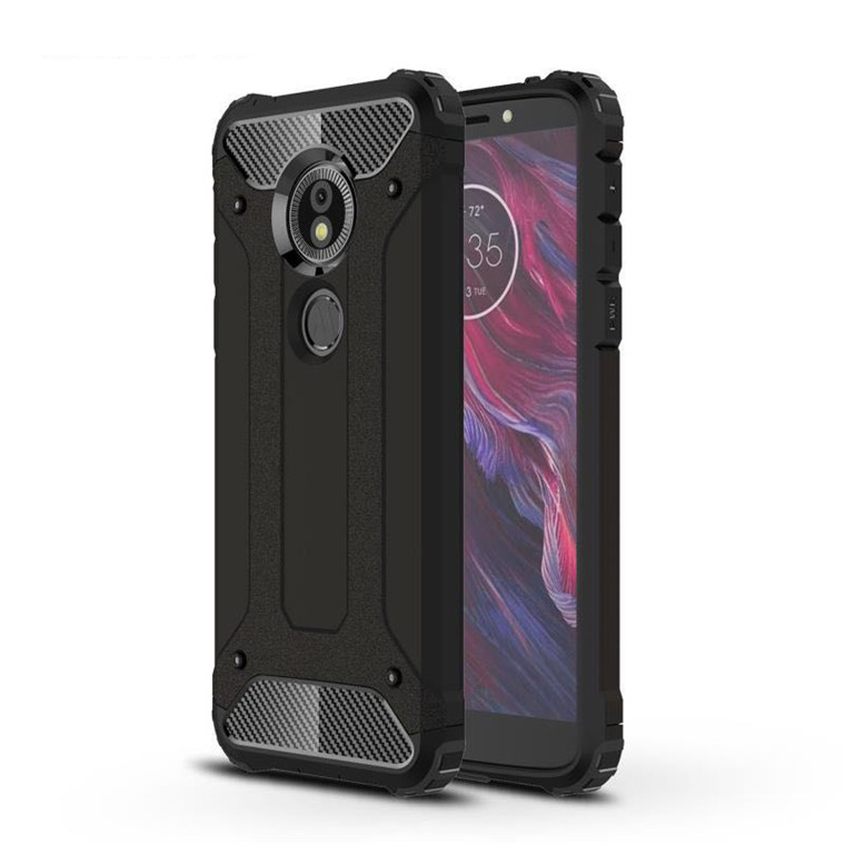 huge discount 1f62f 67f4a Buy the Motorola Moto G6 Play/ Moto E5 Rugged Case Black, Dual Layer ...