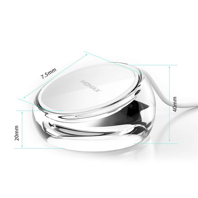 Buy the Momax Crystal Fast Wireless Charging Stand Support