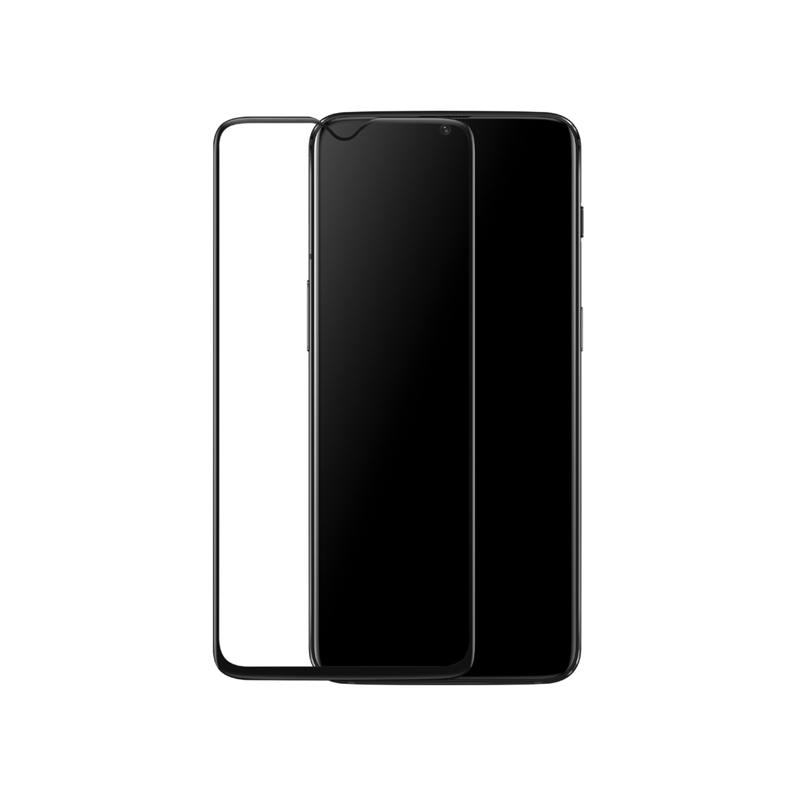 OnePlus 6T Full Covered Tempered Glass Screen Protector Black, Edge-to-Edge protection,9H hardness,Smudge Resistant, Compatible with Original Oneplus 6T ...