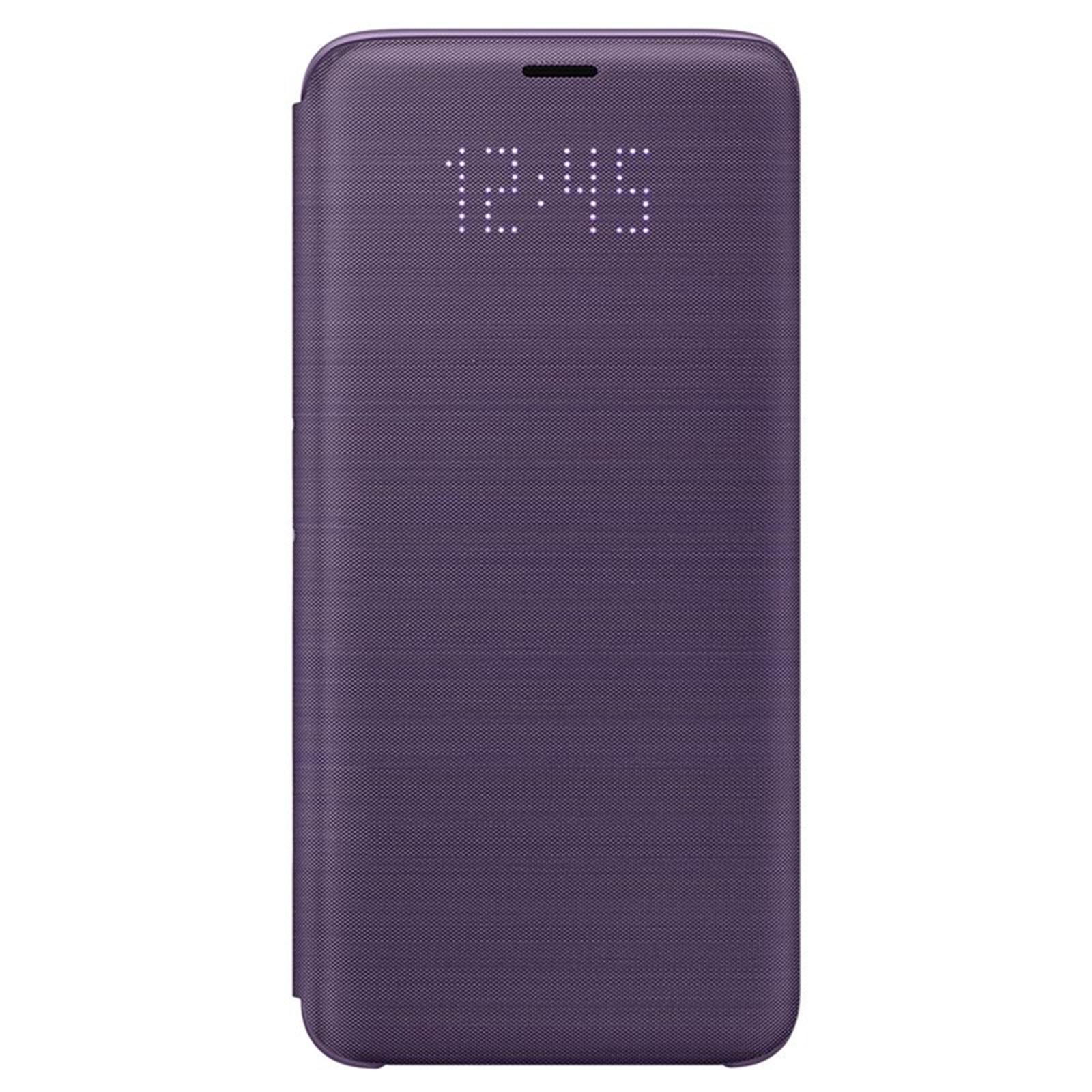 big sale 77f0f d351f Buy the Samsung Galaxy S9 LED View Flip Cover- Purple,Light Alerts ...