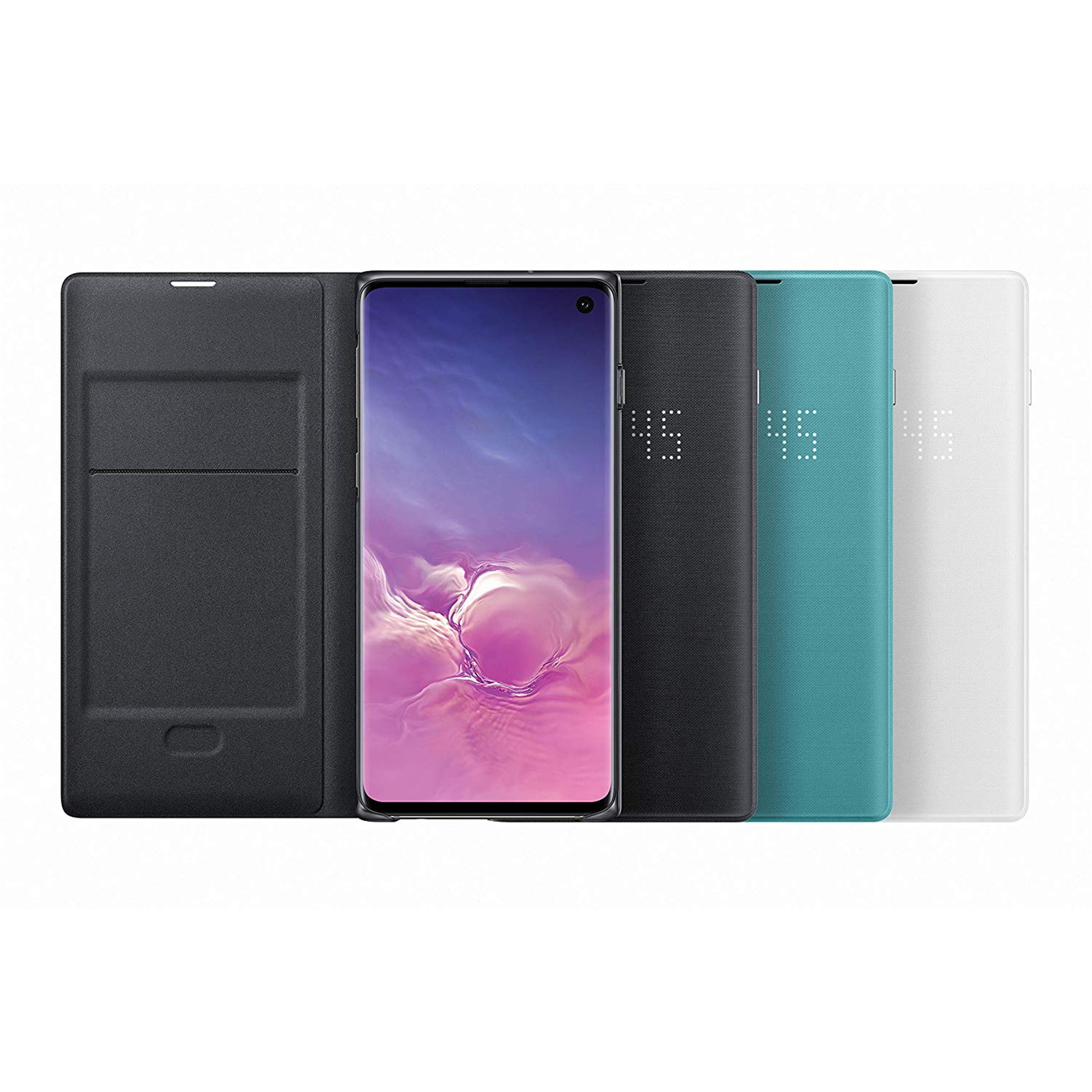 Buy the Samsung Galaxy S10 LED View Flip Cover- Black,Light