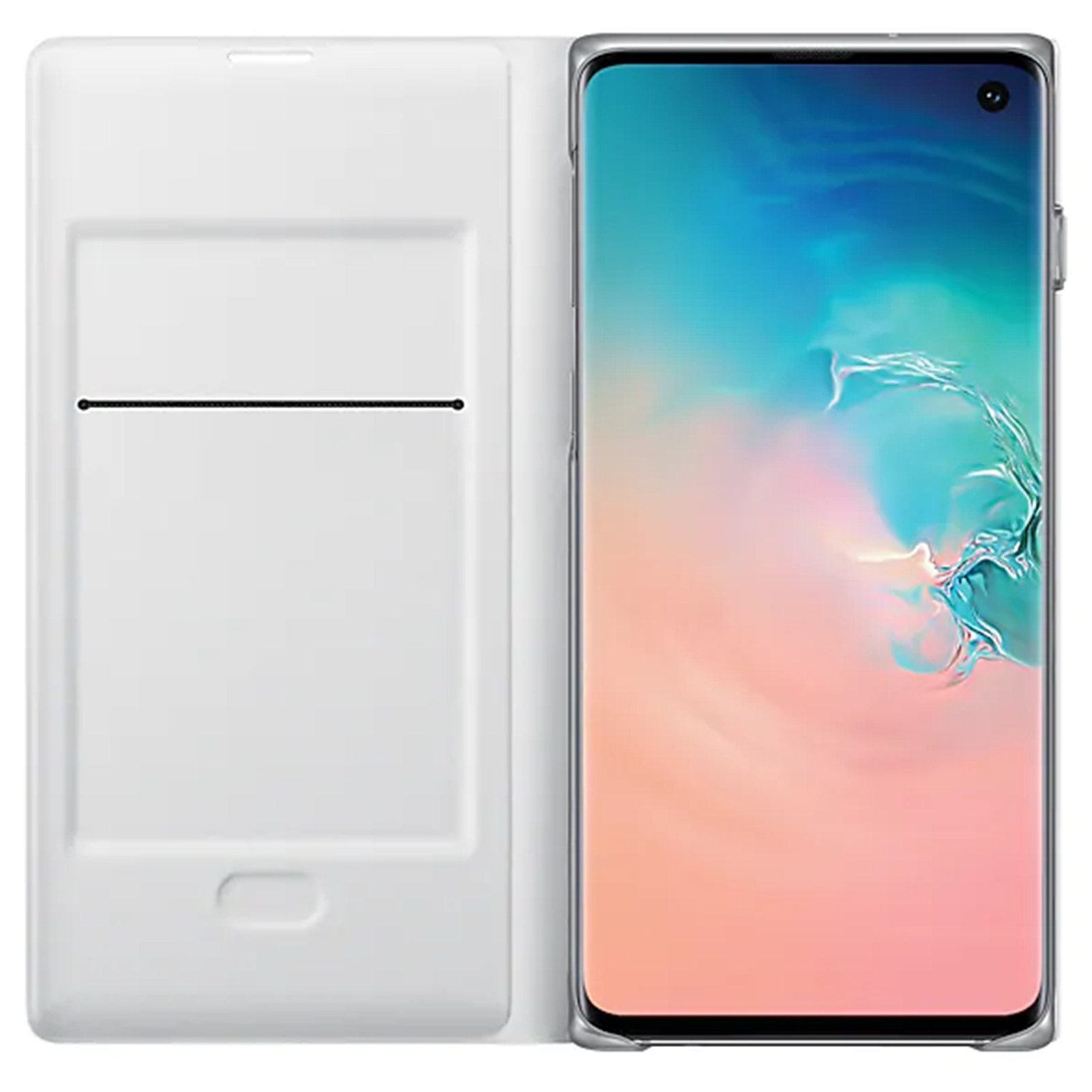 Buy the Samsung Galaxy S10 LED View Flip Cover- White,Light
