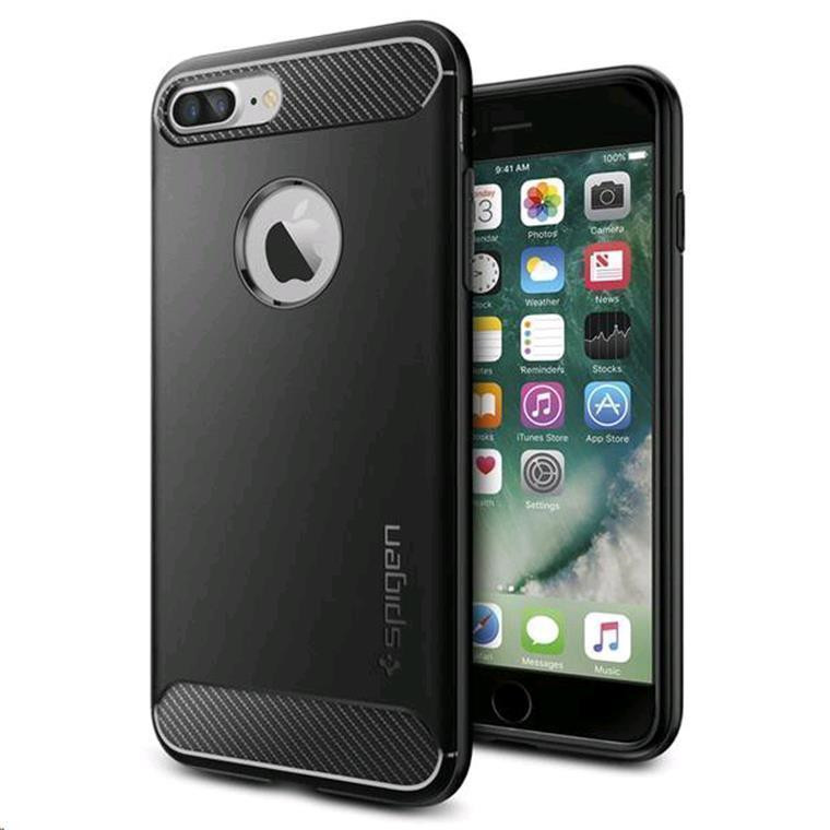 new arrival a7ea5 a0c4e Buy the Spigen iPhone 8 Plus /7 Plus Rugged Armor Case Black,DROP-TESTED...  ( 043CS20485 ) online