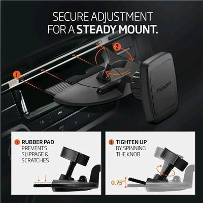 sale retailer 1015f a94ab Buy the Spigen CD Slot Premium Magnetic Phone Car Mount Extremely  Steady,... ( 000CG20590 ) online