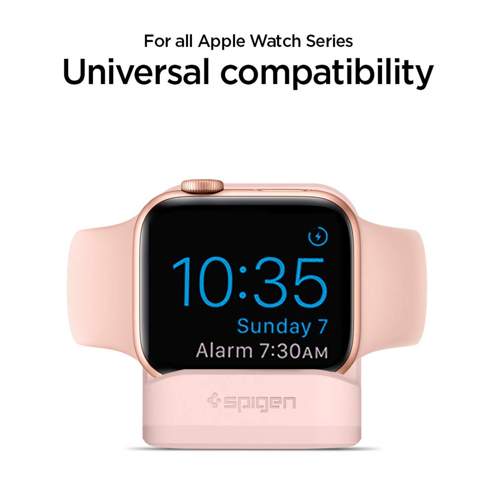 buy online 6a809 cca4c Buy the Spigen Apple Watch Night Stand Pink, Non-Slip Base, Secure ...
