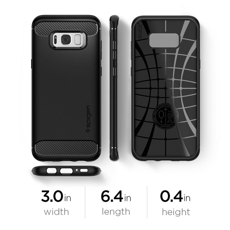 brand new 882fe 0d50d Buy the Spigen Galaxy S8 Rugged Armor Case Black Durable Mechanical  Design,Air... ( 565CS21609 ) online