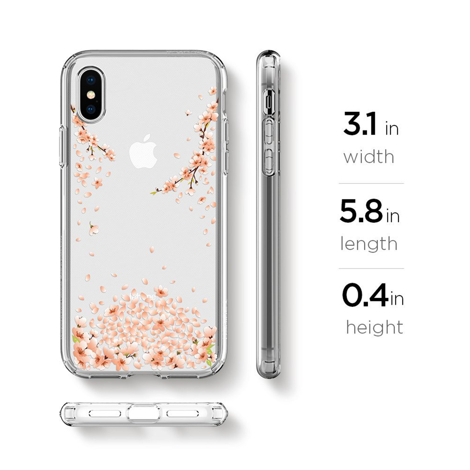 reputable site fac1d c97a4 Buy the Spigen iPhone X Liquid Crystal Blossom Case, Blossom Crystal  Clear,... ( 057CS22121 ) online
