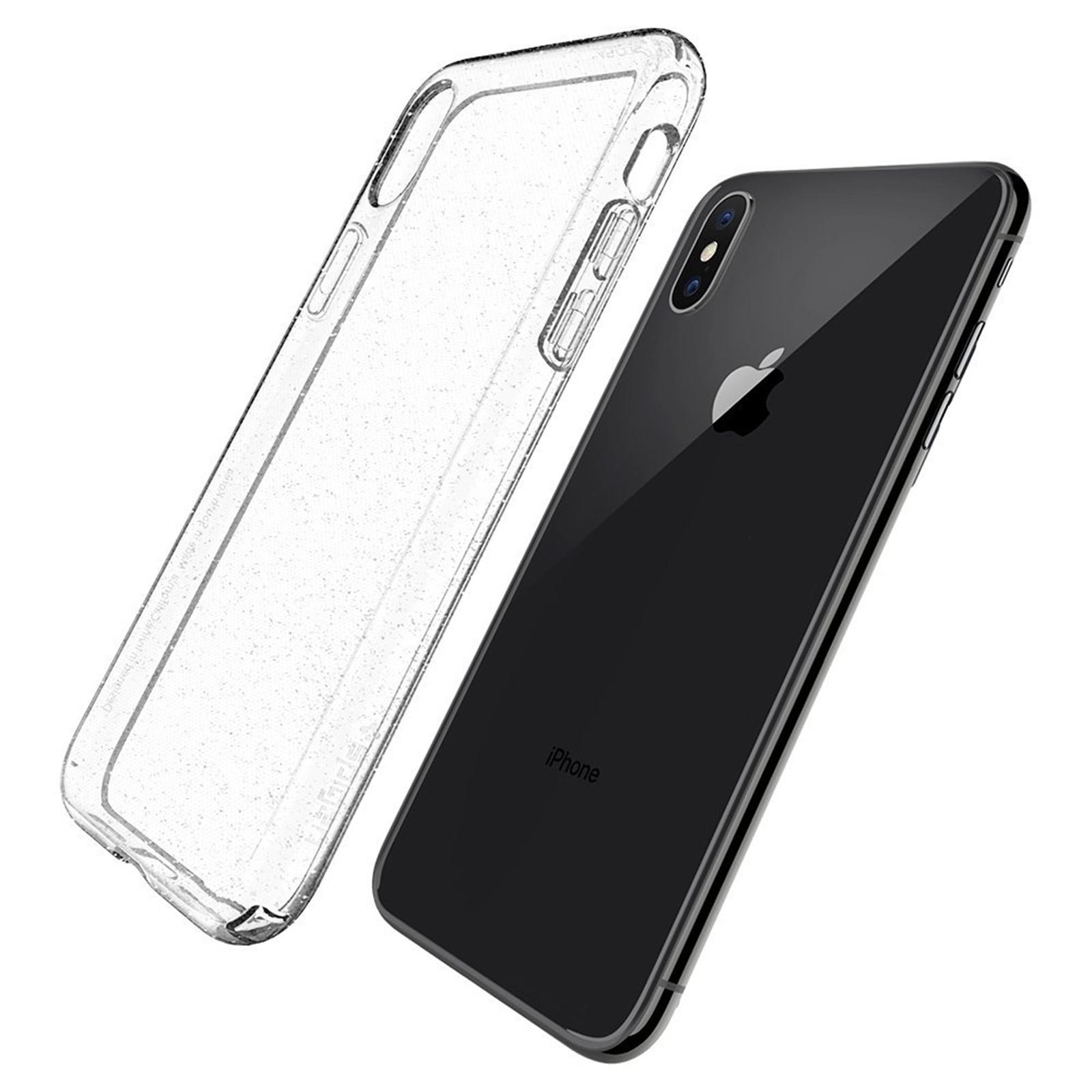 huge selection of 17aef 0998d Buy the Spigen iPhone X Liquid Crystal Case, Glitter Crystal Quartz,  ULTRA... ( 057CS22122 ) online