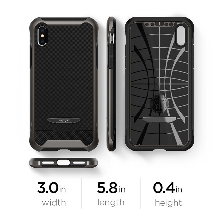 official photos bda52 a17a4 Buy the Spigen iPhone X Reventon Case Gunmetal, Premium Design, 4 ...