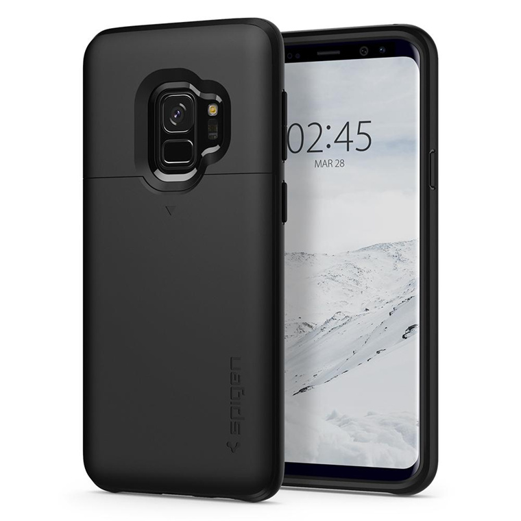 sale retailer fdfa7 86bba Buy the Spigen Galaxy S9 Slim Armor CS Case Black,Slim,Dual Layer,  Wallet... ( 592CS22863 ) online