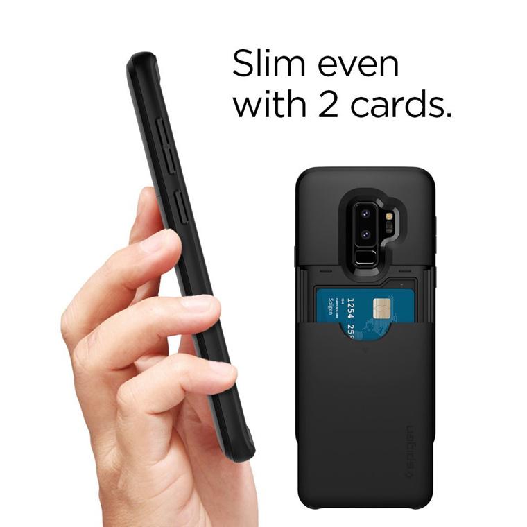 huge selection of b61e7 567cd Buy the Spigen Galaxy S9+ Slim Armor CS Case Black,Slim,Dual  Layer,Wallet... ( 593CS22950 ) online