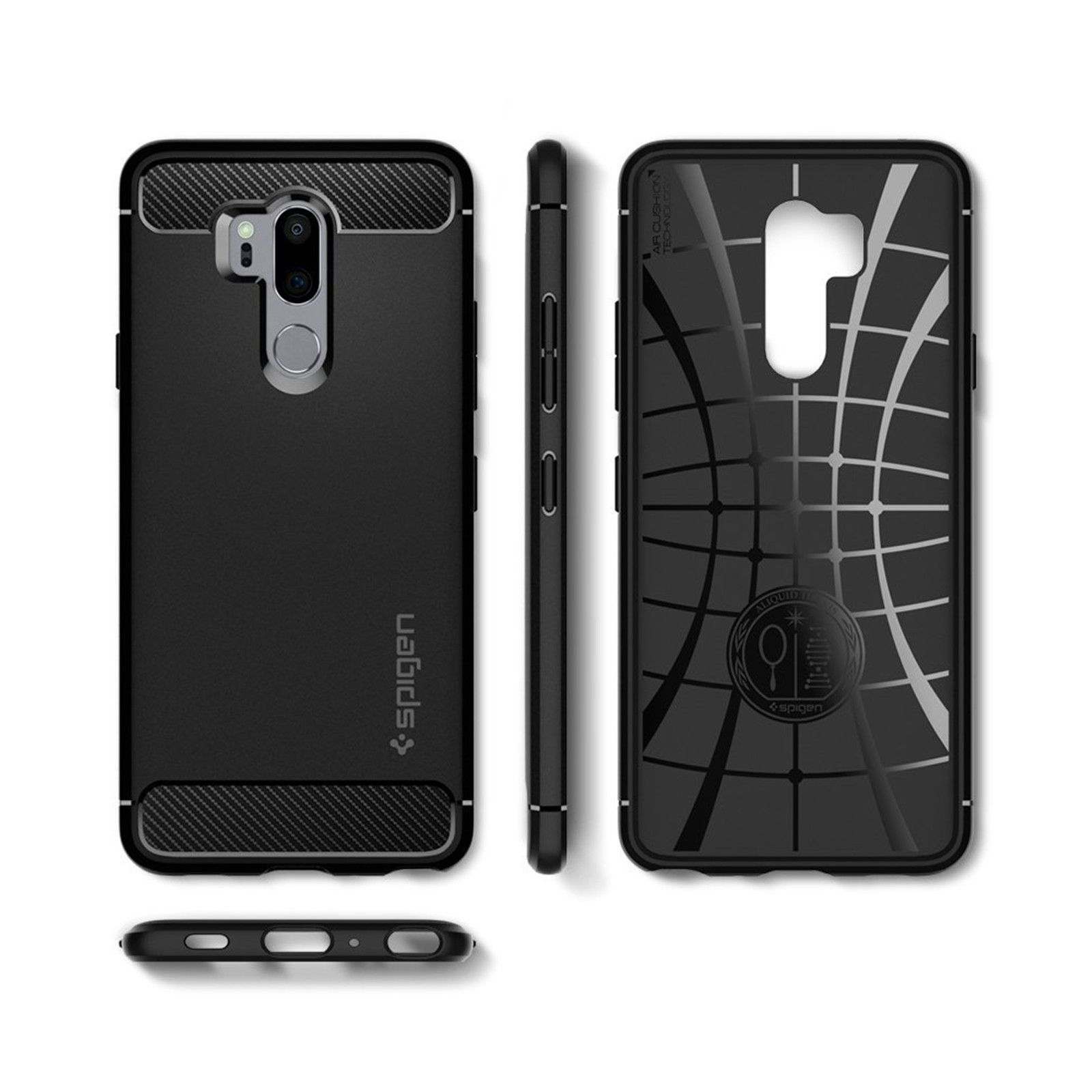 Buy the Spigen LG G7 ThinQ Rugged Armor Case ,Black,Durable