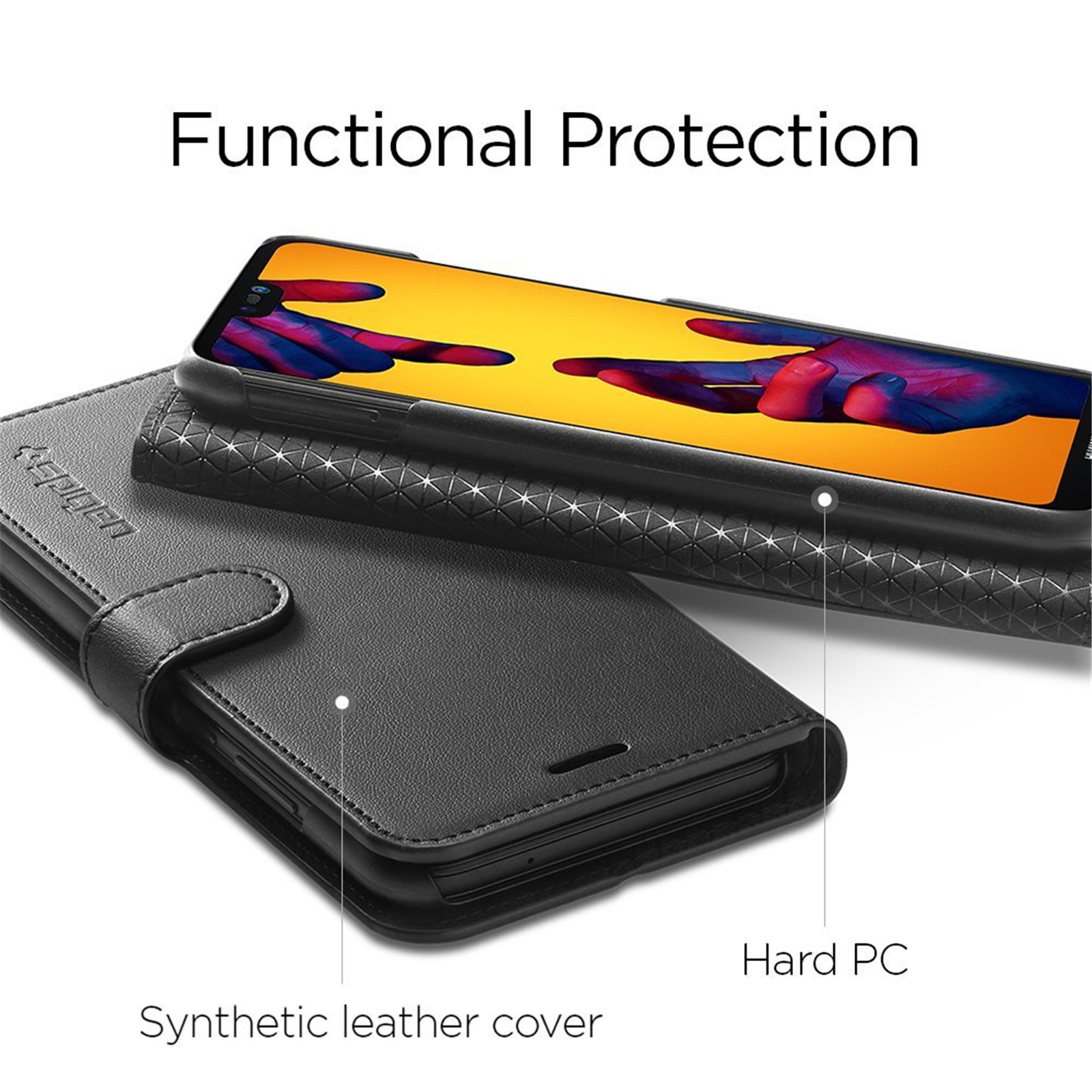Buy the Spigen Huawei Nova 3e/ P20 Lite Flip Wallet Case