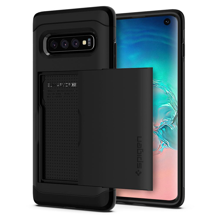 Spigen Galaxy S10 Slim Armor CS Case Black,Slim,Dual Layer,Wallet Design with Card Slot Holder, Air-Cushion Technology(Certified Military-Grade Protection), ...