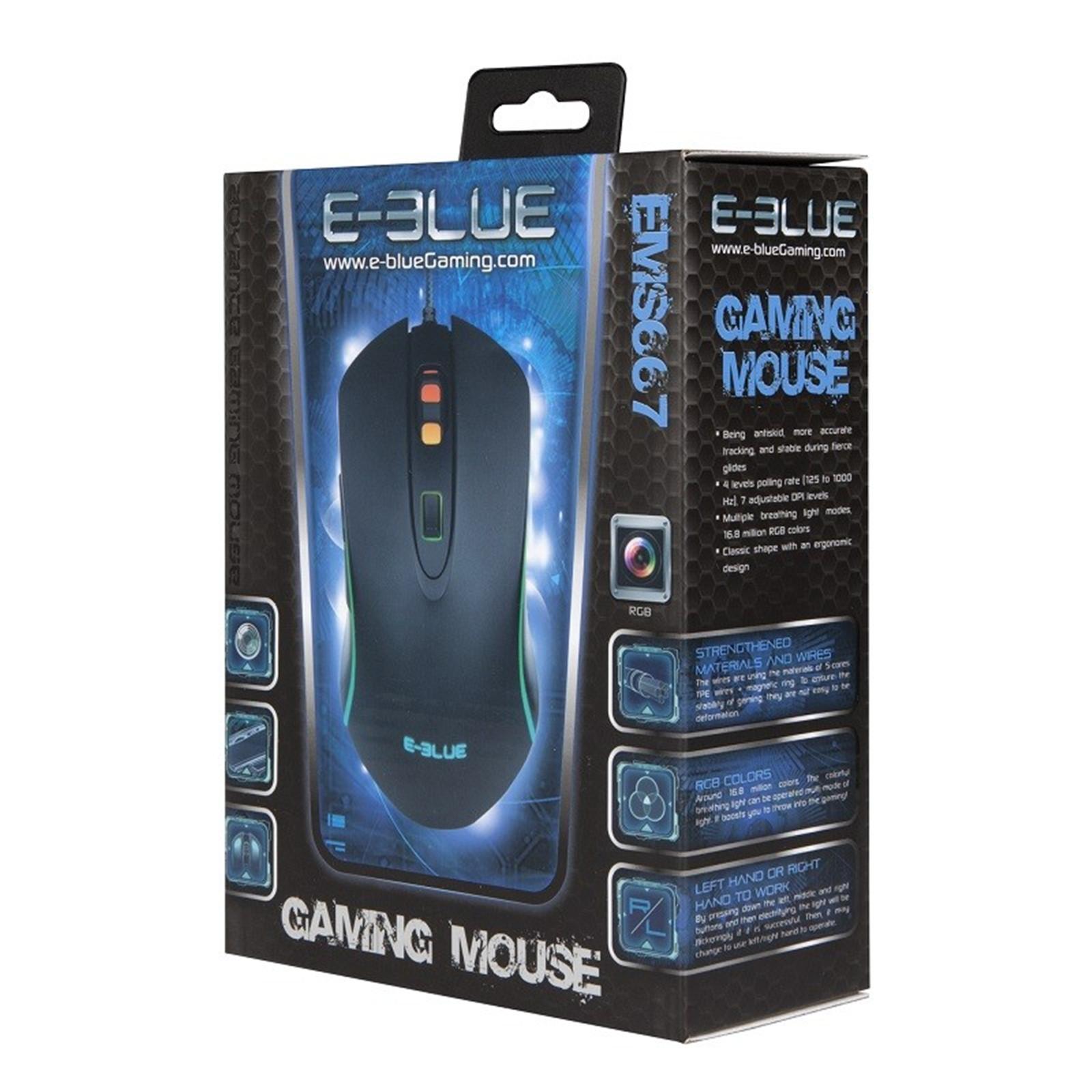 Buy the E-Blue EMS667BKAA-IU EMS667BK 3500DPI RGB Gaming