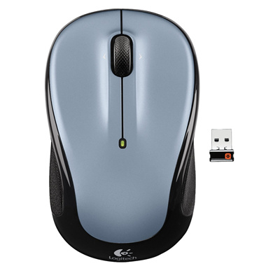 c51c404f5d1 Logitech M325 Wireless Mouse LIGHT SILVER, 18-month Battery life, Unifying  Nano-receiver, Micro-precise scrolling, Optical