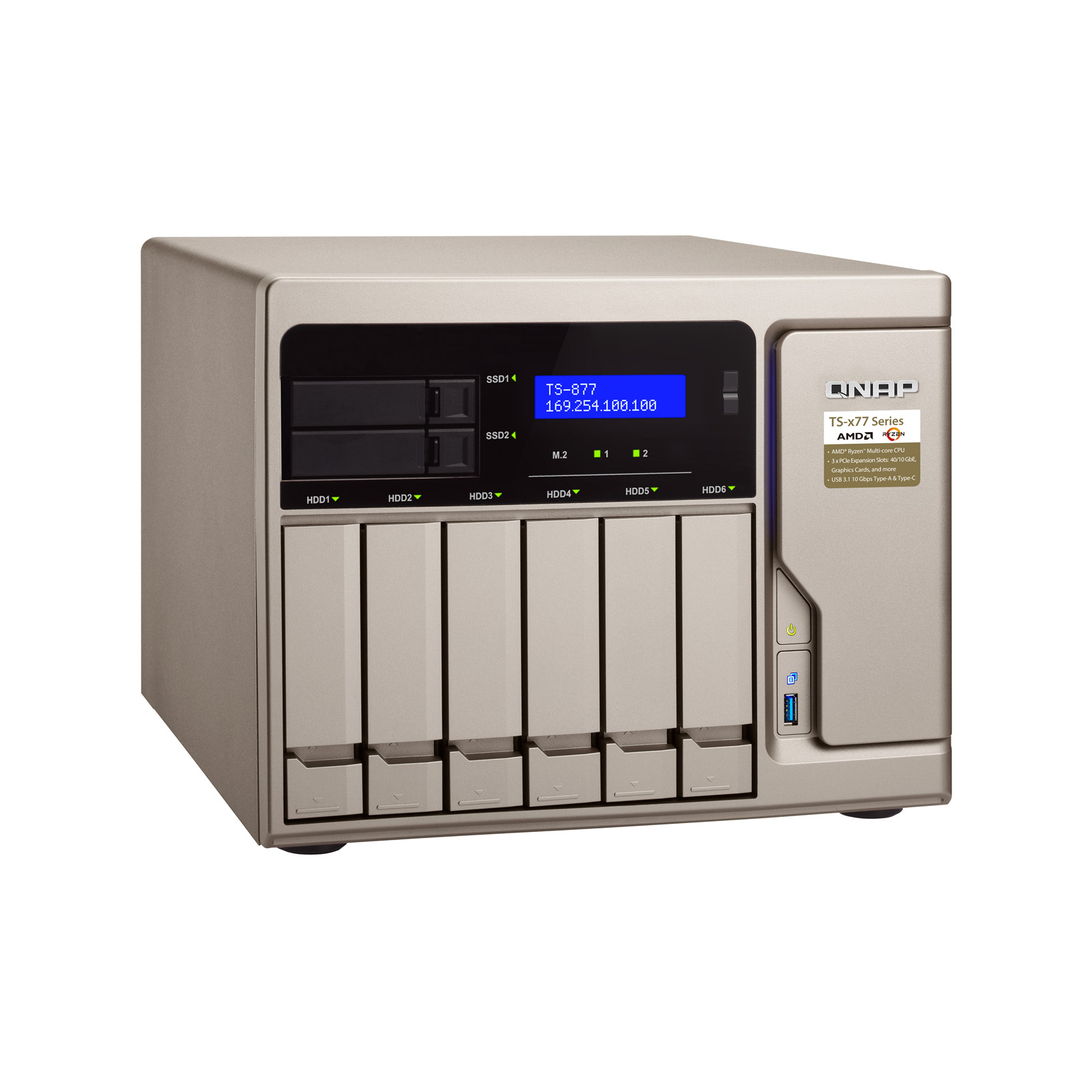 Buy the QNAP TS-877-1600-8G, Tower 8-Bay NAS Server, 6x 3 5