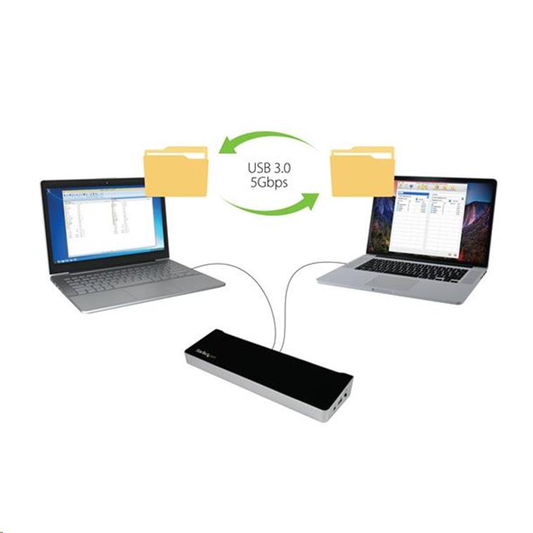 Buy the StarTech KVM Docking Station for Two Laptops - Share