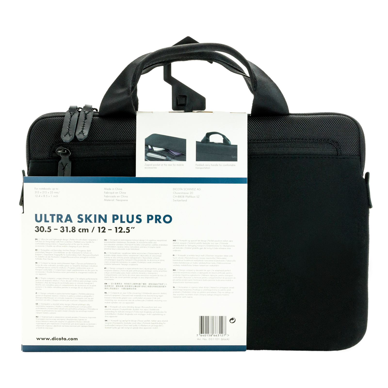 Dicota Ultra Skin Plus PRO Carry Bag   Case for 12