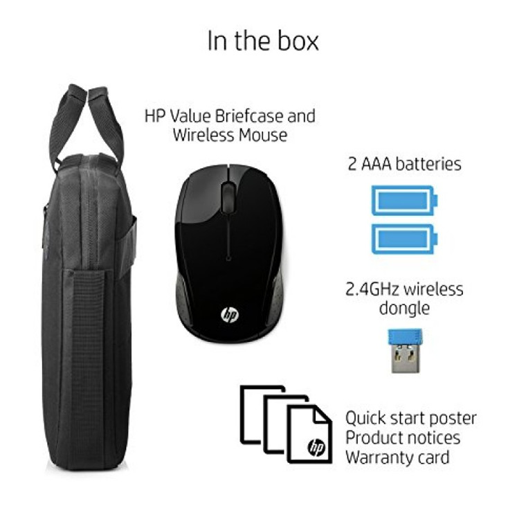 Buy the HP Value Carry Bag with Wireless Mouse for 15 6