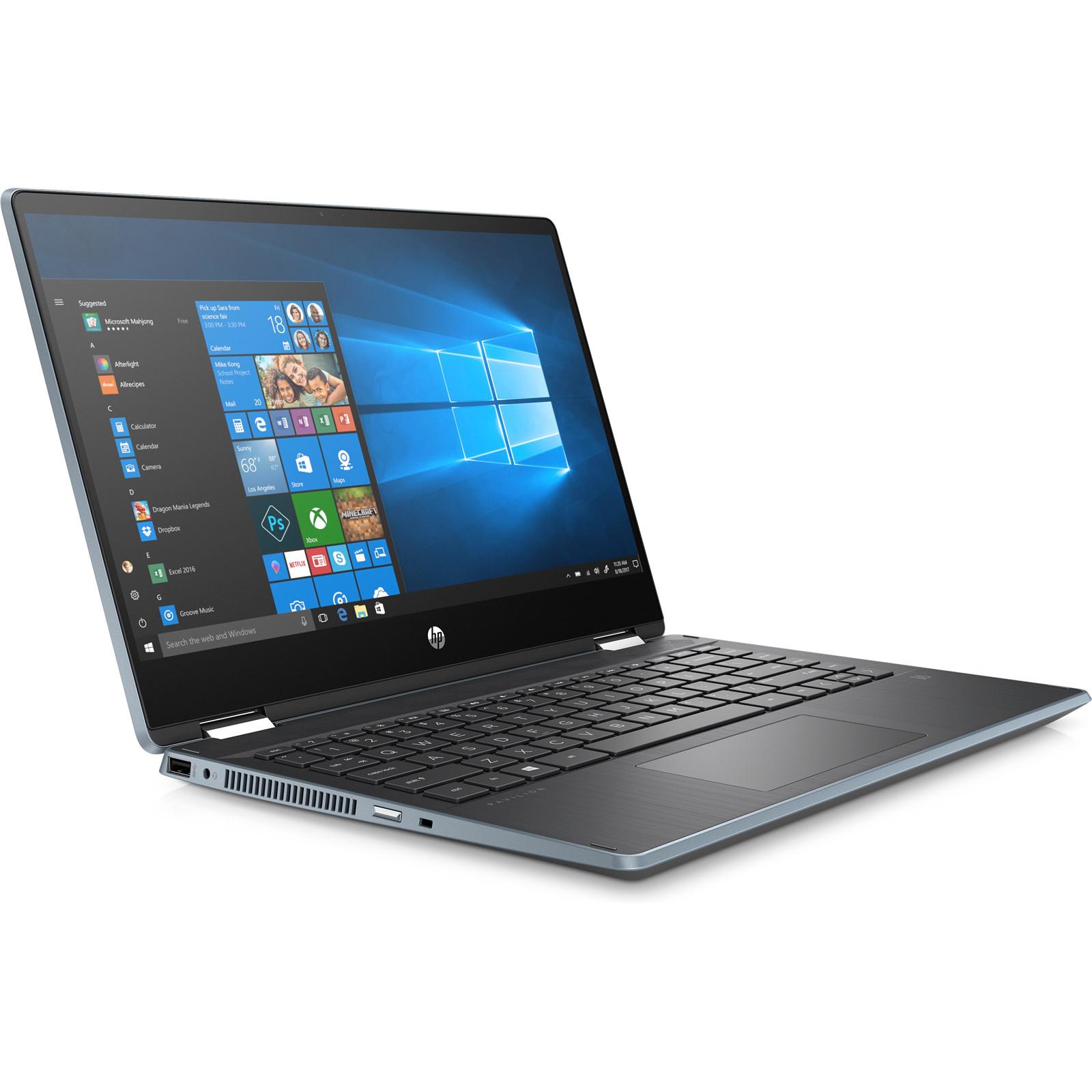 Buy The Hp Pavilion X360 14 Dh0064tu Flip Laptop 14 Hd Touchscreen Intel I5 6yw96pa Online Pbtech Co Nz