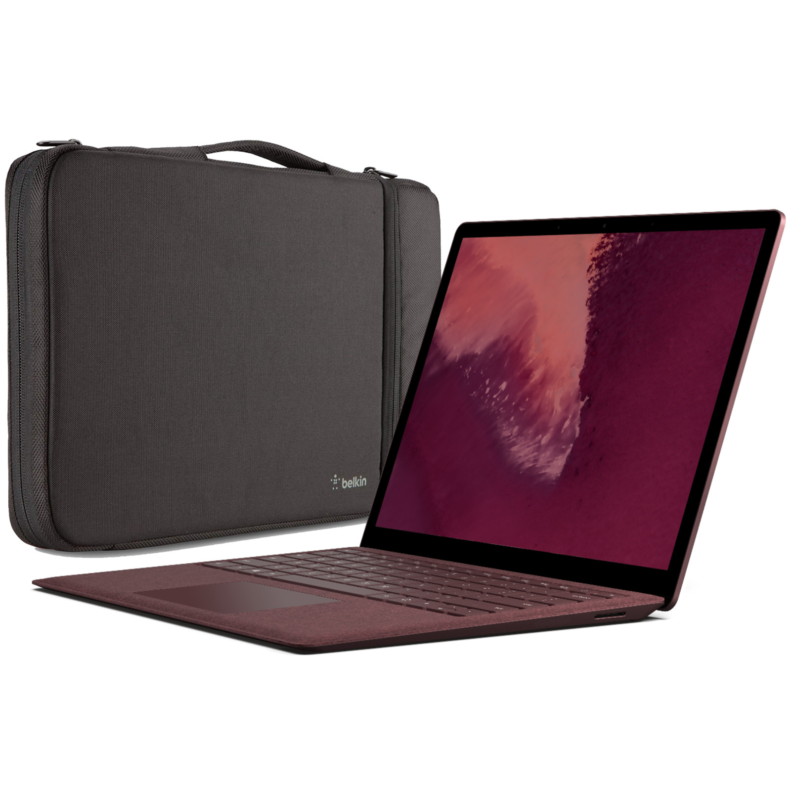 Buy The Microsoft Surface Laptop 2 Education Price I7 8gb Ram 4 Core 256gb Ssd Win10 Home Burgundy Bundle With Belkin Air Protect Sleeve Proof Of Student Id