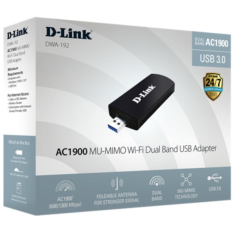 Buy the D-Link DWA-192 Dual Band AC1900 USB3 0 Wireless Adapter (Support  Win10    ( DWA-192 ) online