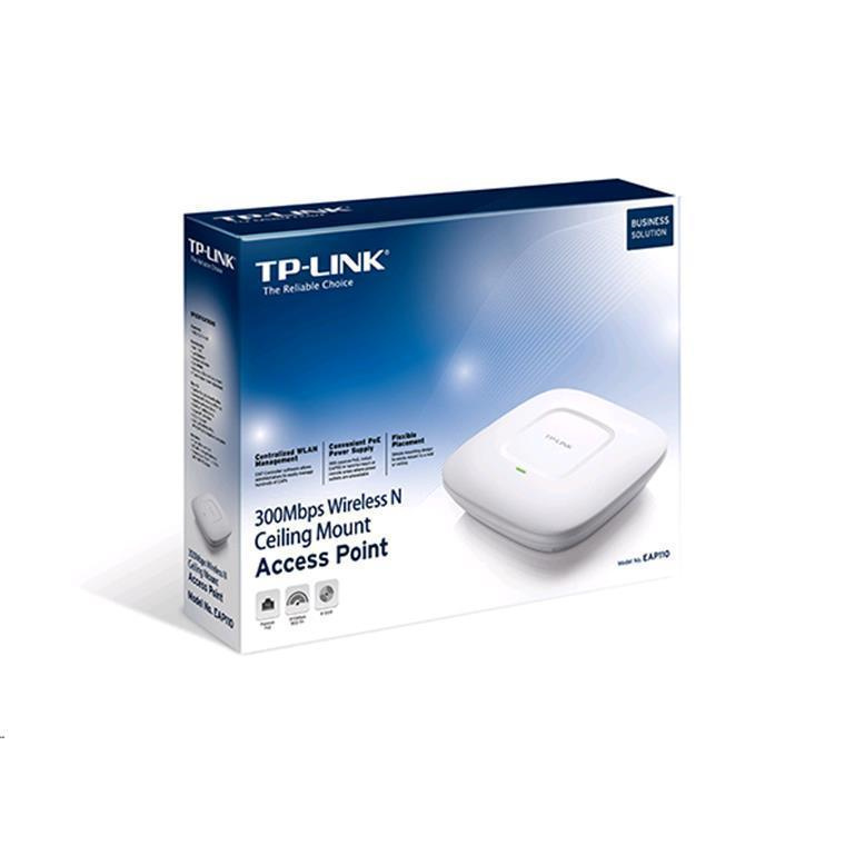 Buy the TP-Link Omada EAP110 N300 Wi-Fi Access Point, 1 x LAN