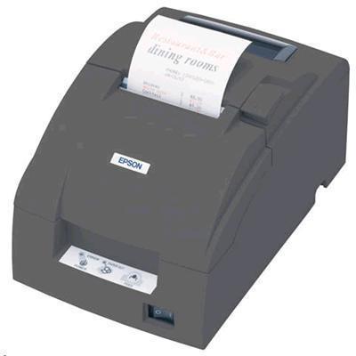 Epson TMU220B Dot Matrix Receipt Printer Auto Cut. Serial. ESC / POS. Epson Dark Grey. Incl PSU