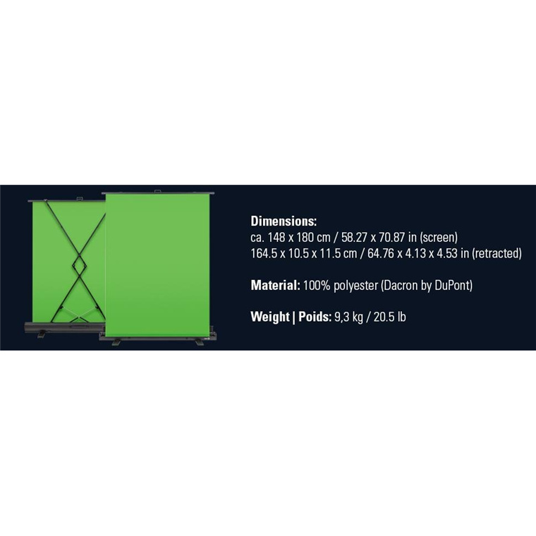 Buy the Elgato 10GAF9901 Green Screen Collapsible chroma key