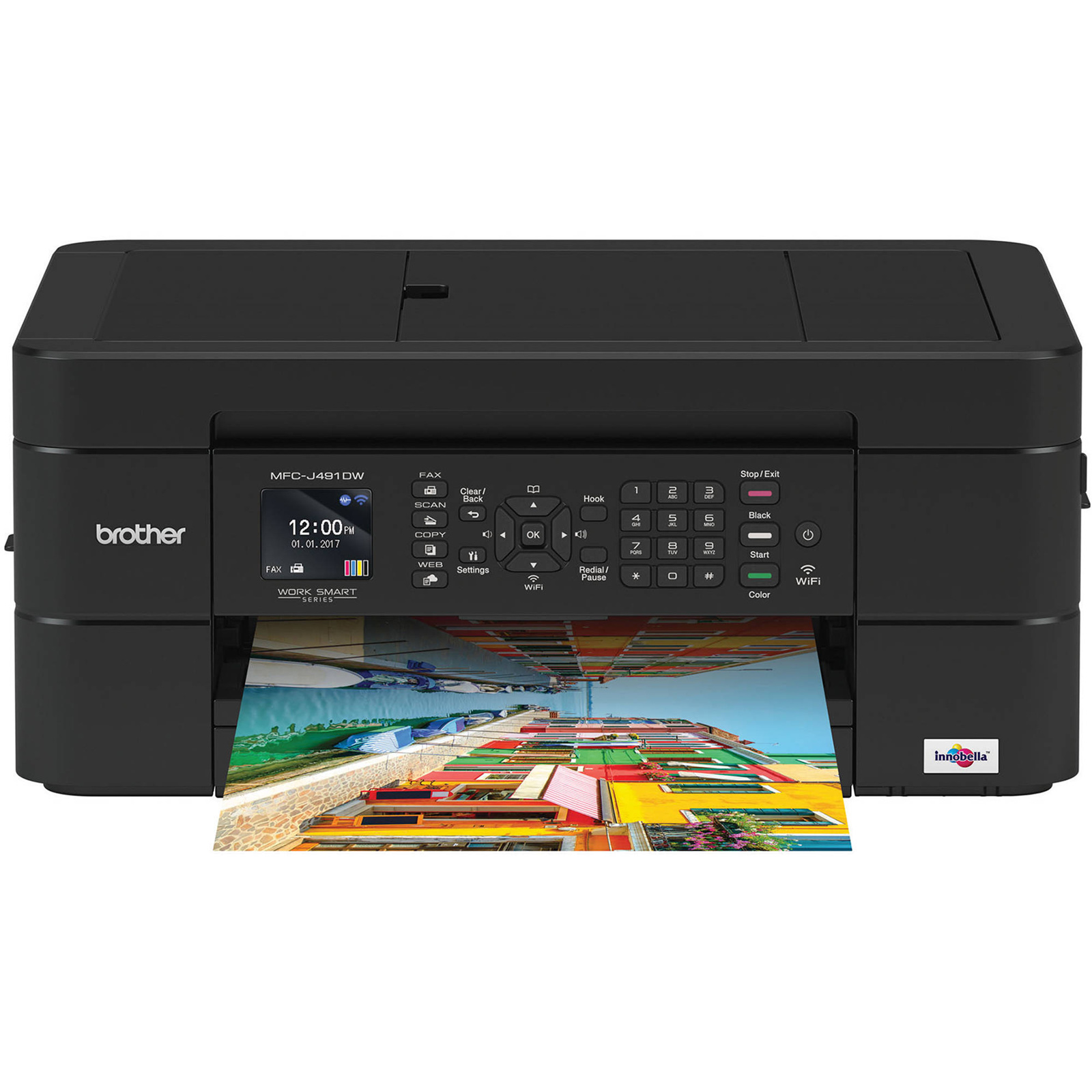 Buy the Brother MFCJ491DW Inkjet MFP Print/Copy/Scan/Fax AirPrint/iPrint     ( MFCJ491DW ) online