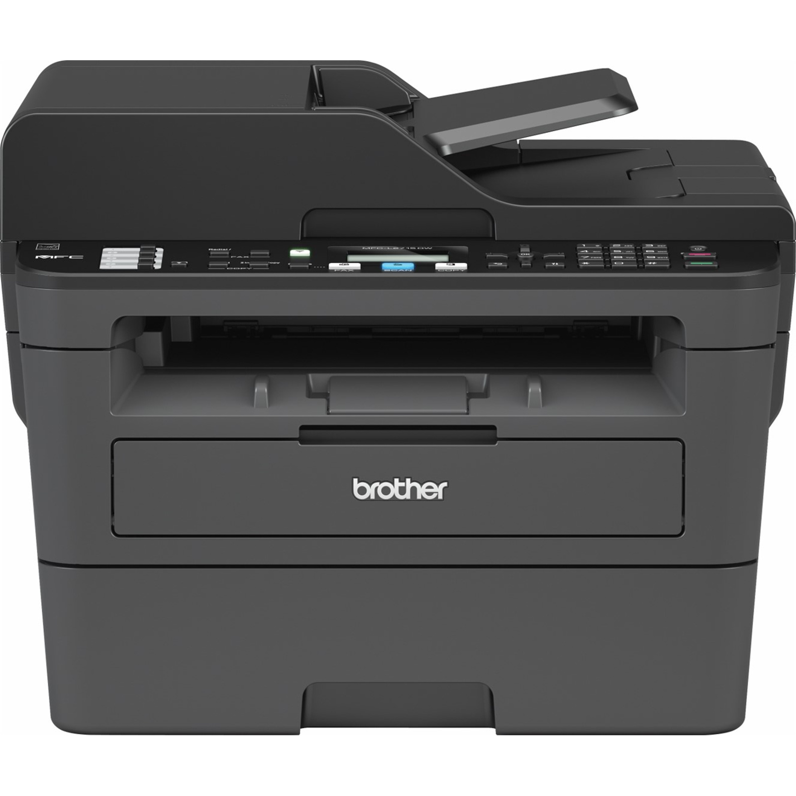 Brother mfcl2713dw mono laser mf print copy scan fax network ready wireless duplex 2sides print 50sheets adf 250 sheets tray 30ppm black