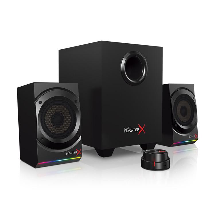 b093040b2 Creative Sound BlasterX Kratos S5 2.1 Speaker System with Customizable RGB  Lighting   Wired Remote Control Precision with 24-bit 96khz USB