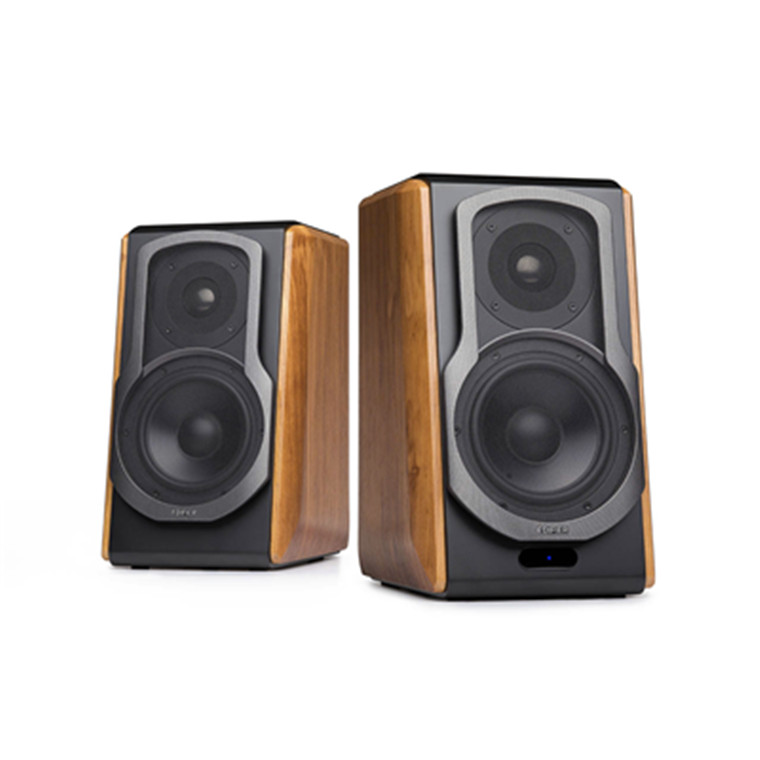 Edifier S1000DB Bookshelf Hi Fi 20 Active Speakers Wooden Side Panels And Black Matte Finish Advanced Titanium Dome Tweeter Connect Wirelessly