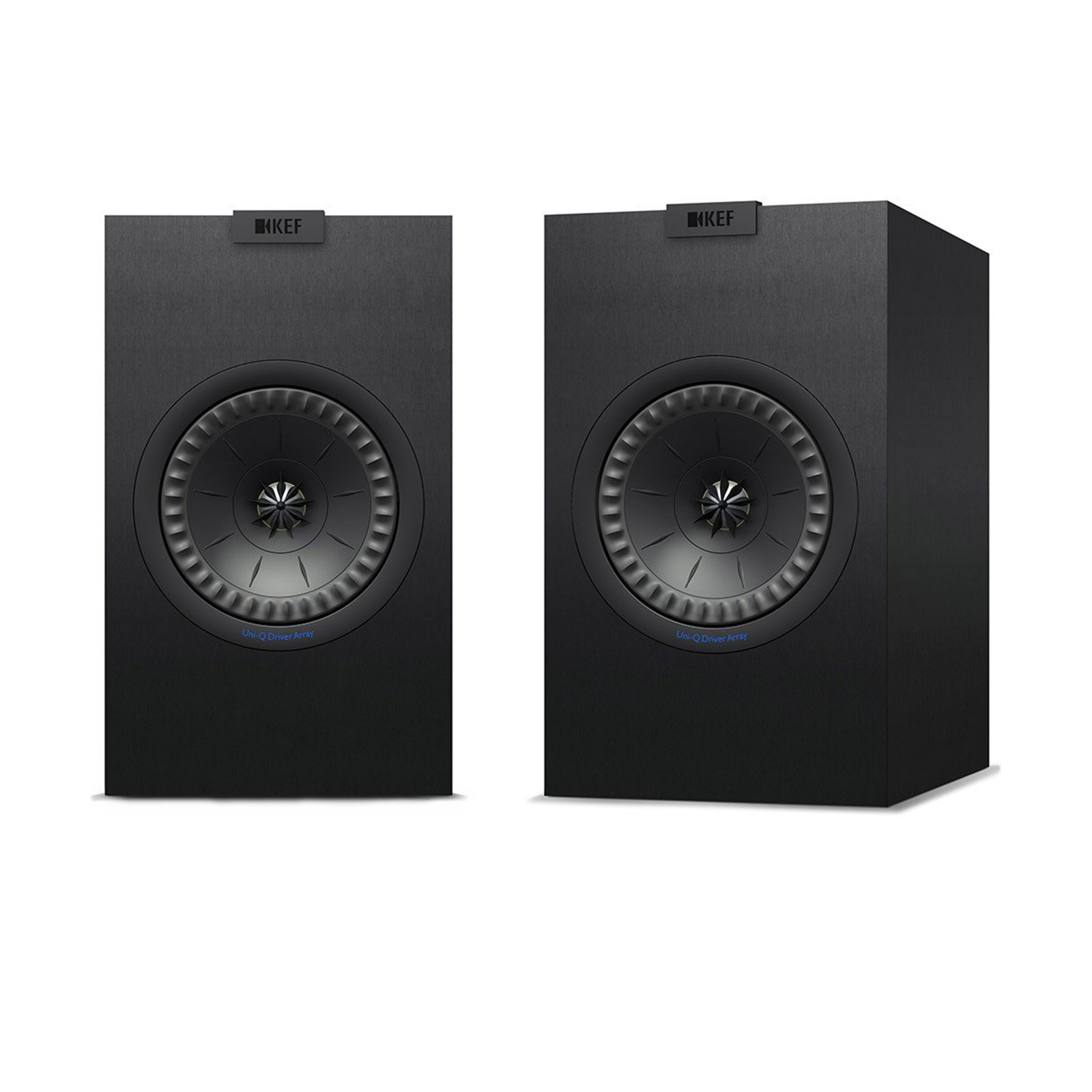 KEF Bookshelf Speaker CFD Designed Port 2 Way Bass ReflexUni Q Array 1 X 525 Uni HF Drivers Colour Black SOLD AS PAIR