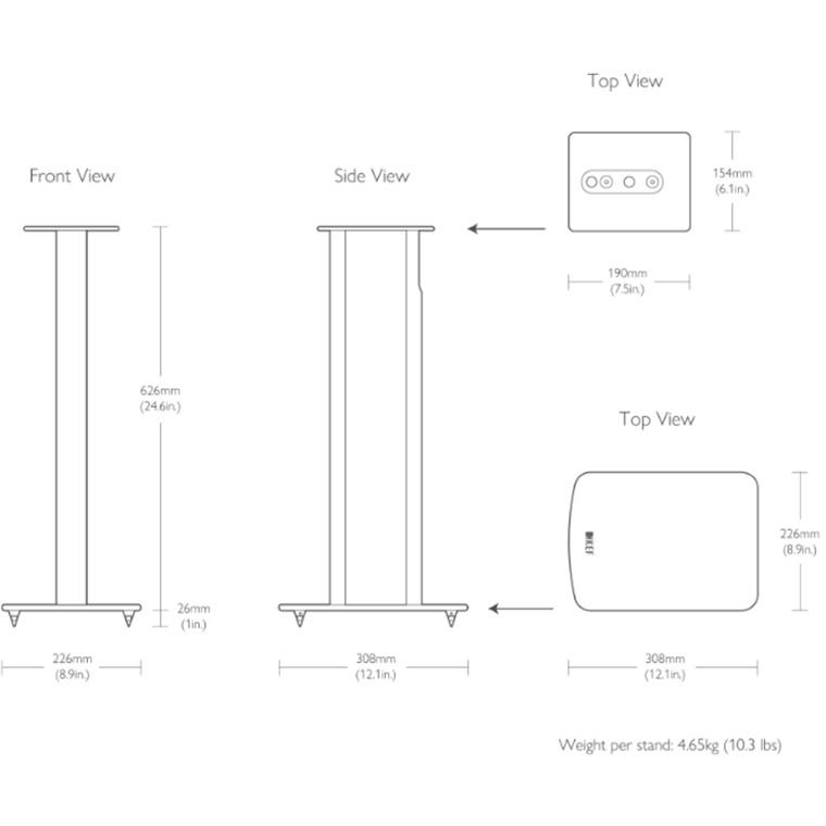 Buy the KEF SP3989AA KEF Performance Speaker Stands For KEF