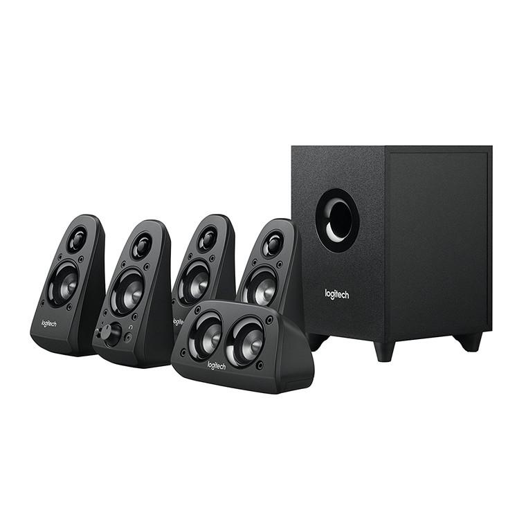 d703d433603 Logitech Z506 5.1 Surround Sound Speakers, 5.1 channel, Down-firing  Subwoofer, 75 watts(RMS), Dedicated bass control, Multiple inputs