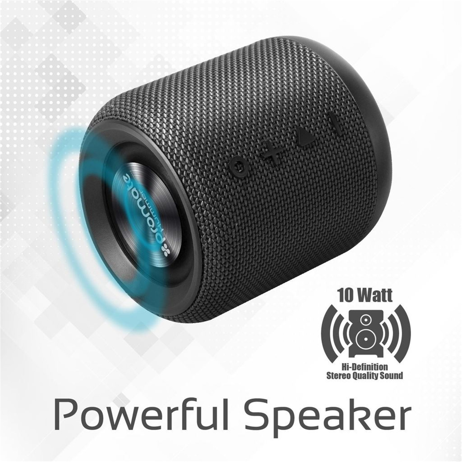 Buy the Promate HUMMER BLK 10W Wireless Bluetooth Speaker