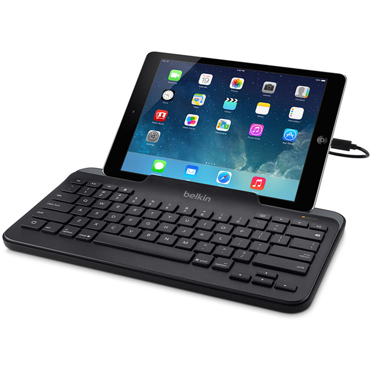 buy the belkin b2b130 wired tablet keyboard w stand for ipad lightning b2b130 online. Black Bedroom Furniture Sets. Home Design Ideas