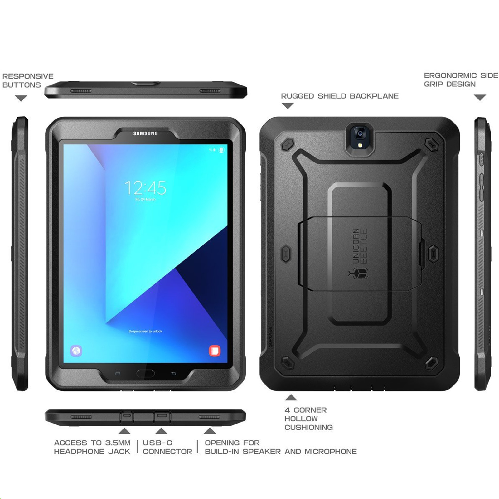 Supcase Unicorn Beetle Pro Rugged Case For Samsung Galaxy Tab S3 9 7 Black 3 Reviews